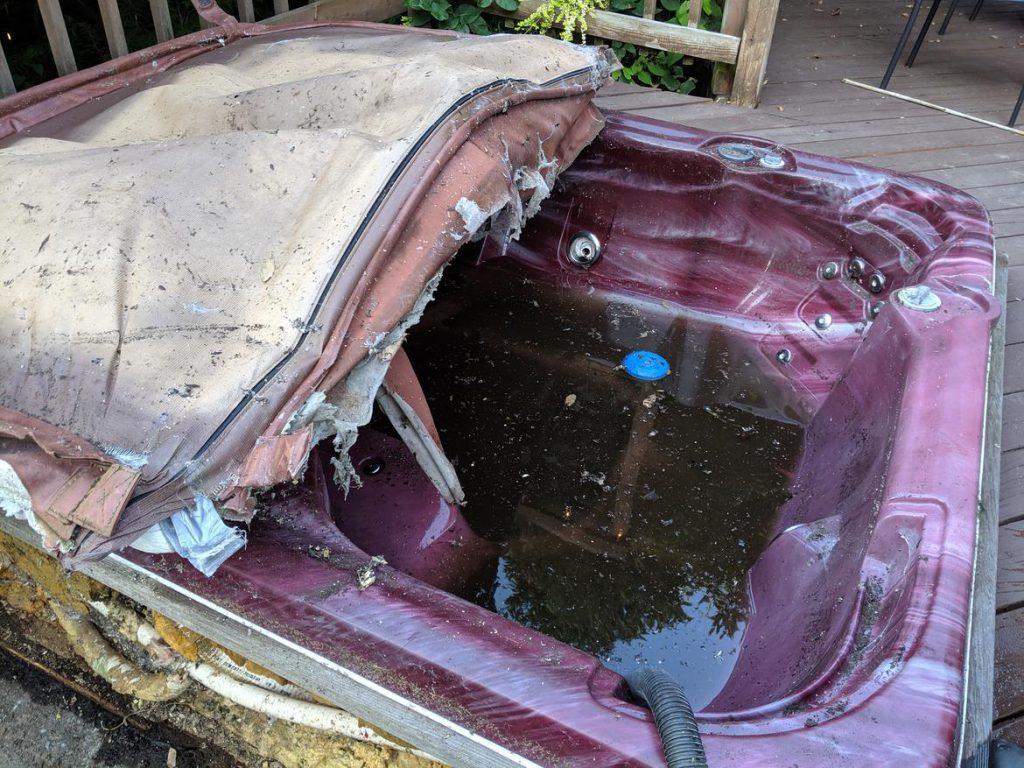 old Hot Tub Junk